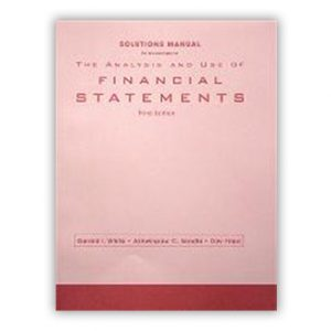 The analyst and use of financial statement product